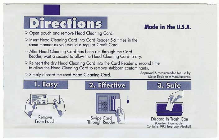 Head Cleaning Cards
