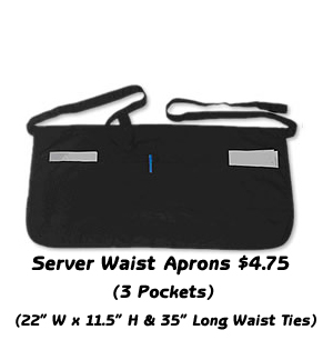 Server Waist Aprons Only $2.25 ea.